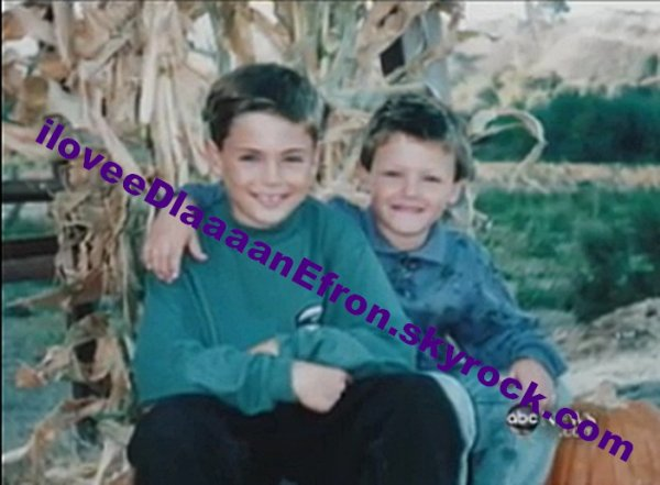 Dylan and Zac, when they were younger!! $)
