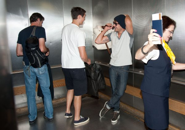 Dylan with Zac at LAX airport