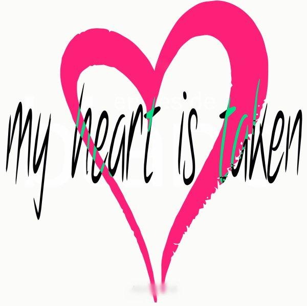 my heart is taken<3