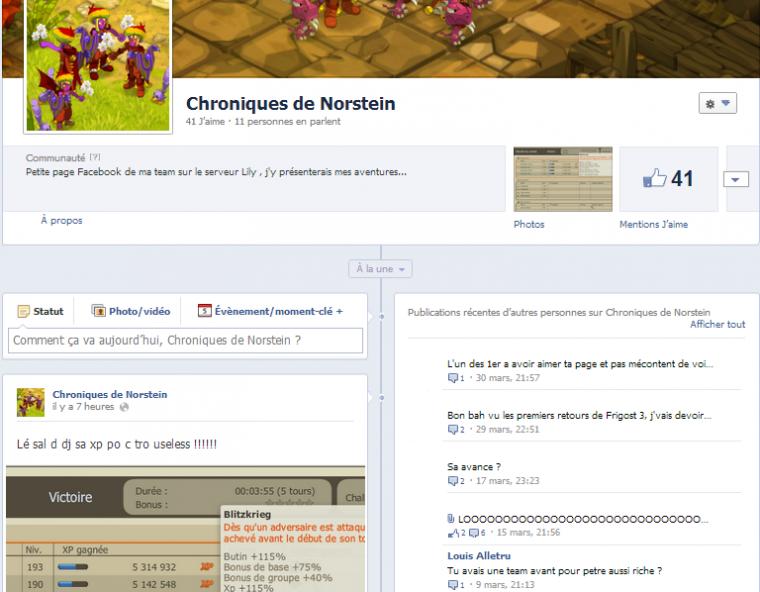 Page Facebook aller un petit 'Like ' ! :)