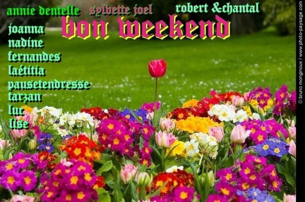 bon weekend a tous