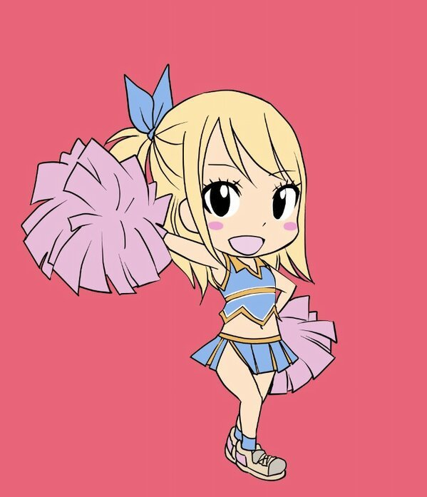 chibi lucy pompom girl