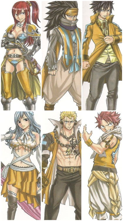 fairy tail en jaune