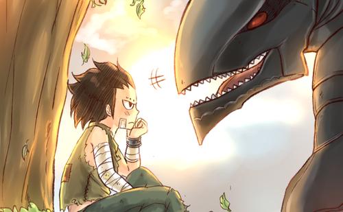 gajil petit avec son dragon