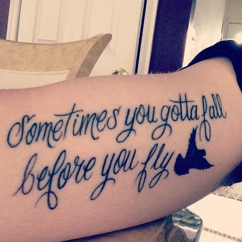 Parfois il faut tomber avant de pouvoir s'envoler.
