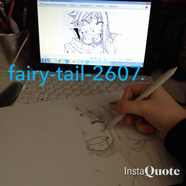 Etapes pour dessiner Natsu & Lucy.