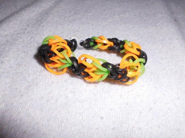 bracelet citrouille en élastique