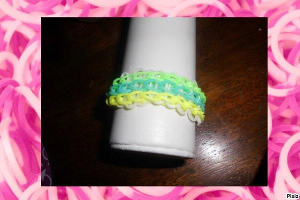 bracelet échelle en élastique