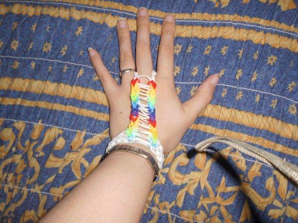 bracelets et bagues en élastique