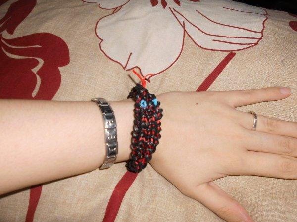 bracelet serpent en élastique