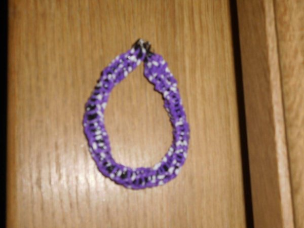 bracelet torsade en élastique