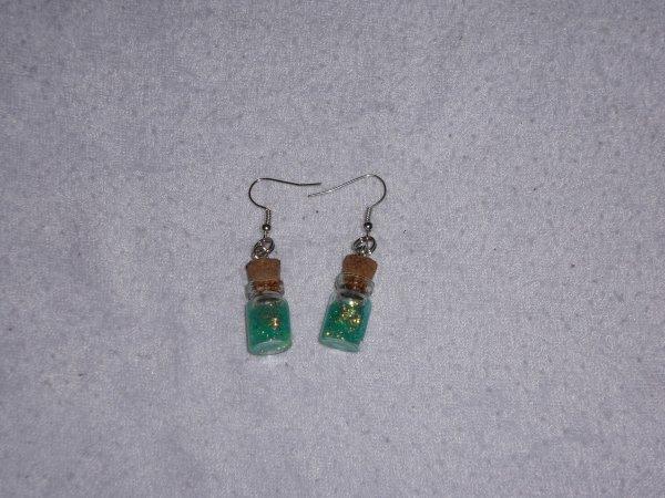 boucles d'oreilles fioles