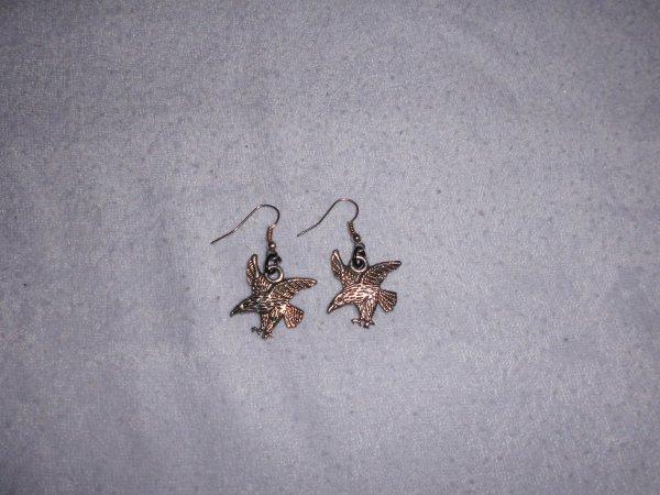 boucles d'oreilles aigles