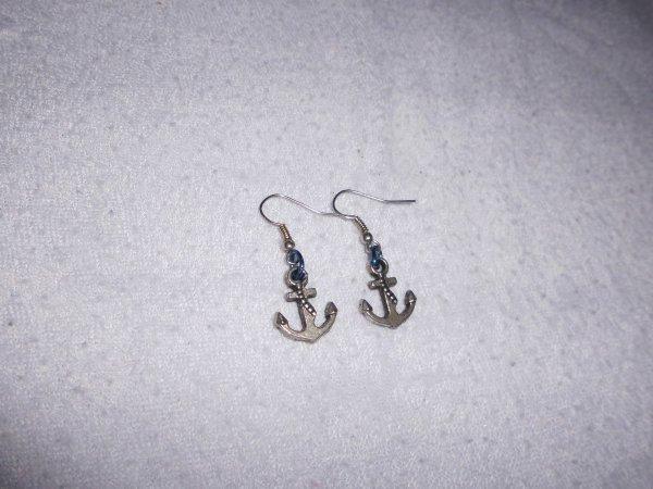 boucles d'oreilles ancres
