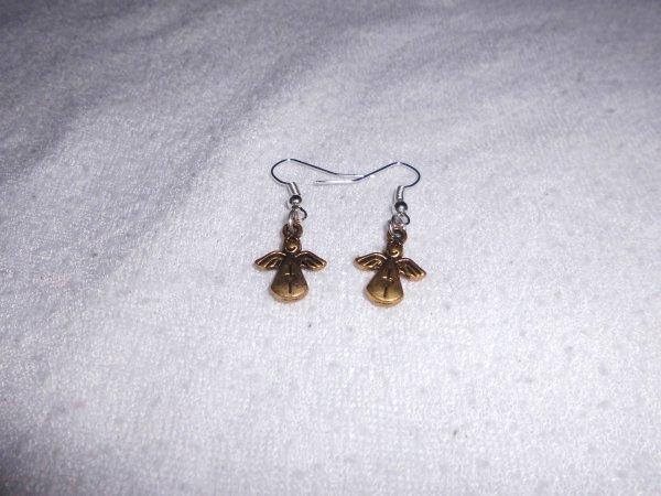 boucles d'oreilles anges bronze