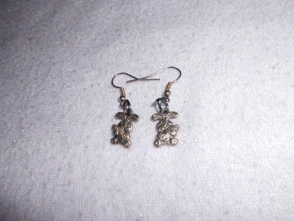 boucles d'oreilles lapins