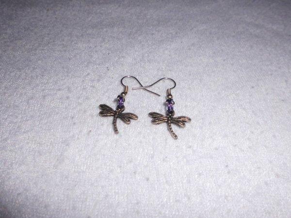 boucles d'oreilles libellule