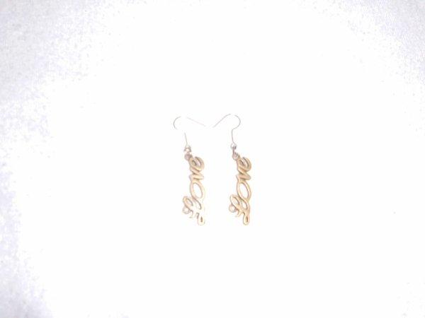 boucles d'oreilles love bronze