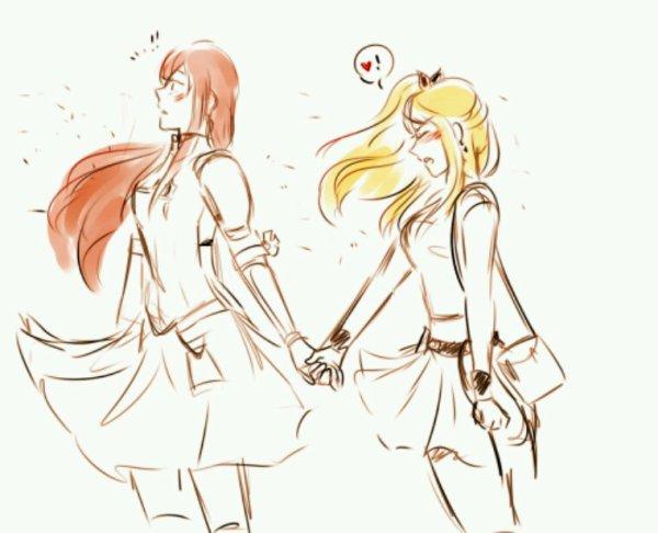 Erza x Lucy (Fairy tail)