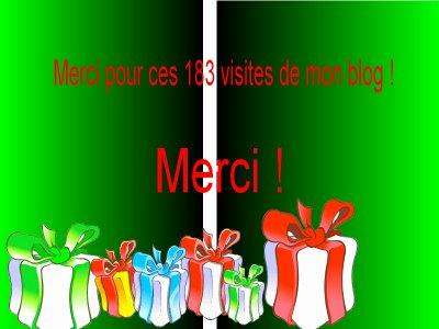 MERCI POUR CES 183 VISTIES ! <3