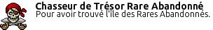 Badge Chasseur De Trésor Rare Abandonné