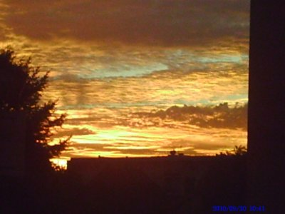 couché de soleil du 2 / 10 / 2010 ... Superbe .... !