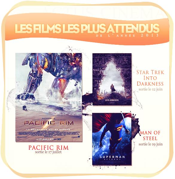 _____________Les films les plus attendus de l'année 2013.  _________________________________________________Votre ressentie, quels films vous  tente?