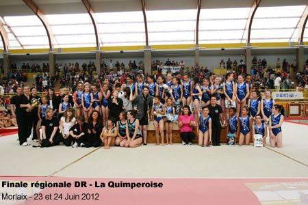 31 équipes féminines de la quimpé gym en finale régional à Saint Brieuc
