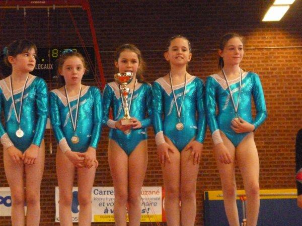 5 podiums bretons pour La Quimpéroise gym sur 8 équipes
