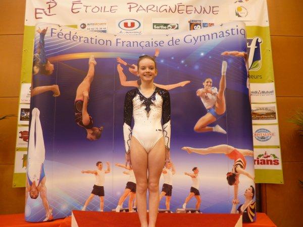 Marie Ancien 26eme française sur 47 gymnastes à Cognac