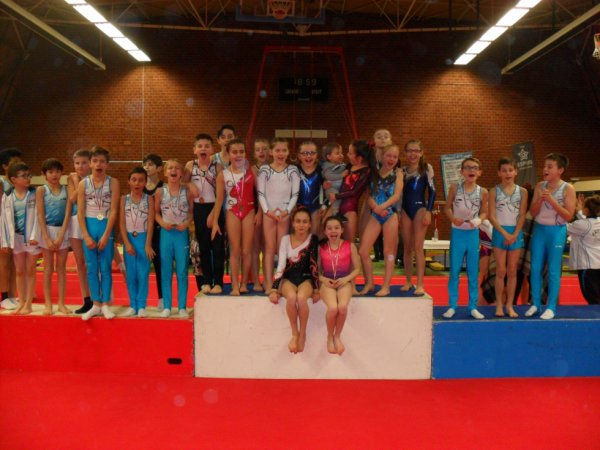 30 podiums au département individuel à Brest pour La Quimpéroise gym