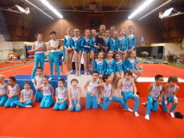 12 équipes de La Quimpéroise gym sur le podium au département à Brest