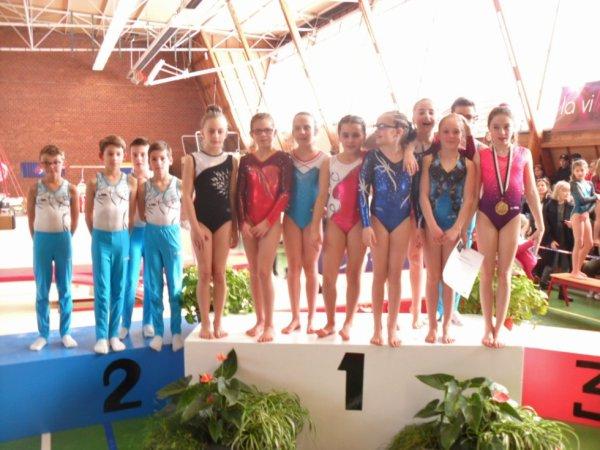 8 podiums bretons pour La Quimpéroise gymnastique à Brest