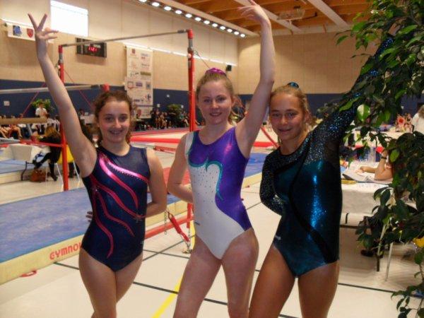 16 gymnastes de La Quimpéroise gym à Cesson Sévigné en région individuel