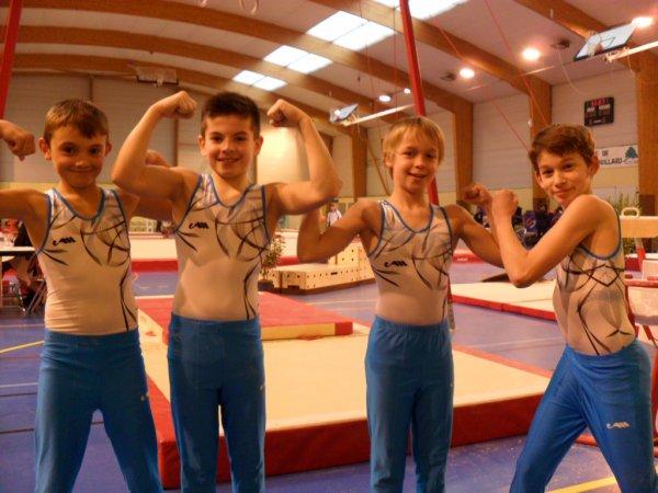 5 équipes de La Quimpéroise gymnastique artistique sur le podium breton