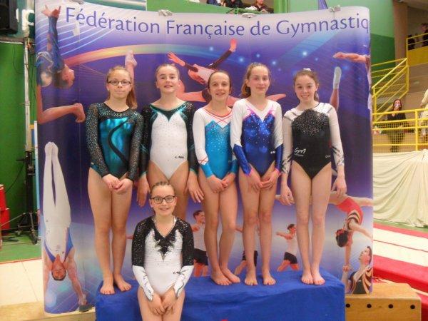 Hayden Le Corre de La Quimpéroise gym qualifié au france à Auxerre