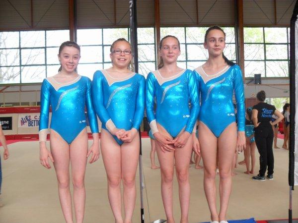 2 équipes de La Quimpéroise gymnastique sur le podium performance regroupement ouest
