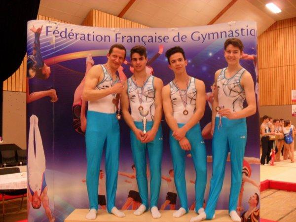 2 équipes de La Quimpéroise gym au championnat de France à Belfort et Chalons En Champagne
