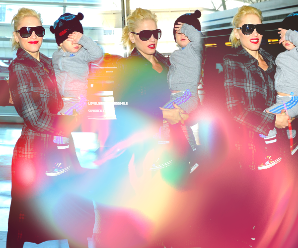 Gwen and The Boys : At LAX and JFK airports