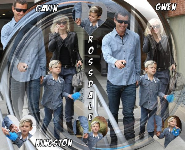 Gwen , Gavin and Kingston : Taking a walk // All The Family : Shopping at WestField mall