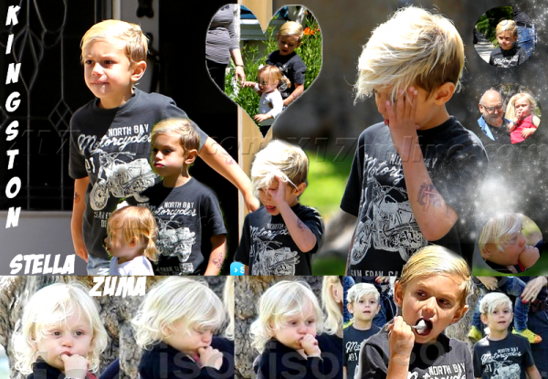 Gwen , Gavin and The Boys : At GrandParents' /// With Tom Dumont and Family : Los Angeles Zoo (69)