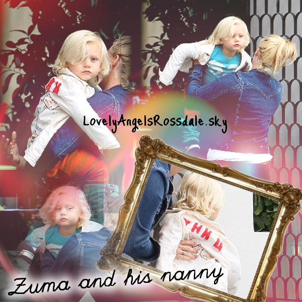 Zuma and his nanny : Lunch at Cecconi's in West Hollywood /// With Mommy and his nanny : At The Nail Salon (112)