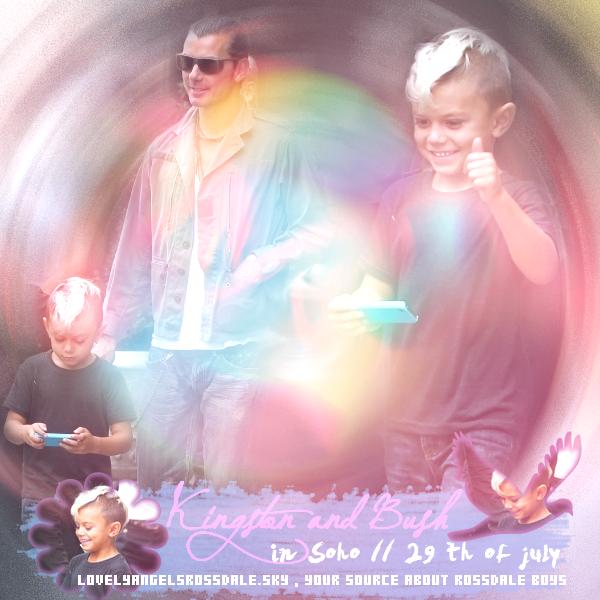 Gavin , Kingston and Bush : Walking in Soho // Gavin at SiriusXM Studio