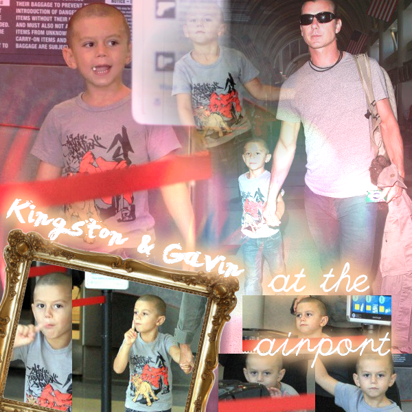 Gavin and Kingston : At the airport // Gwen and Zuma : On a walk in Brentwood