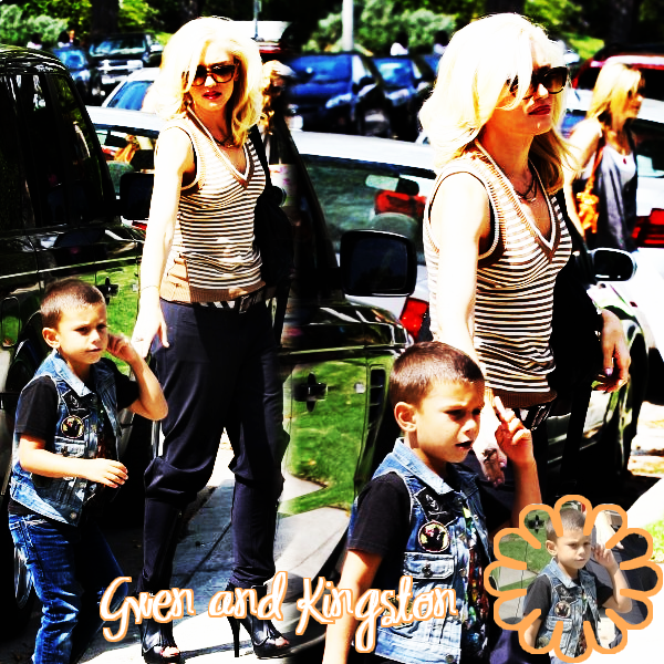 Gwen and Kingston : At a birthday party // With Zuma : At her parents' house