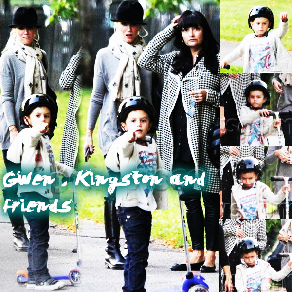 The Boys and their nannies (or Gwen) : Take a stroll in Primrose Hill