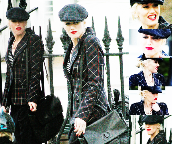 Gwen and The Boys : Out and about in Primrose Hill // Gwen : At Stella McCartney's 40th birthday party