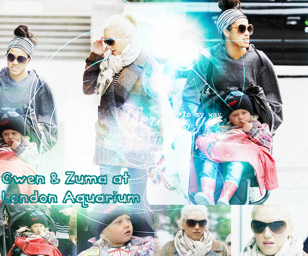 Gwen and The Boys : At London Aquarium