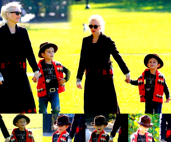 Gwen : At a nail salon // With her Boys : Day at the parc