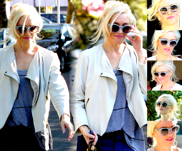 Gwen : Leaving a nail salon // Going to Kate Hudson's Halloween Party